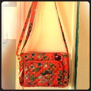 Vera Bradley Orange Floral Crossbody Bag
